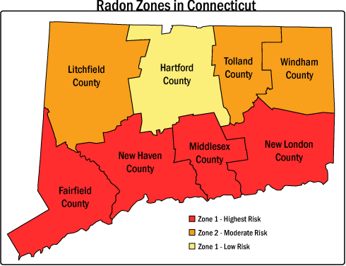 Radon Testing Company in Connecticut Risk Zones