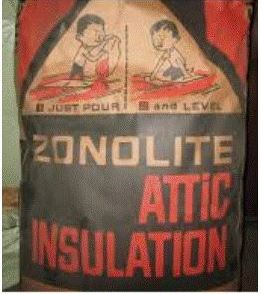 Vermiculite insulation with asbestos contamination